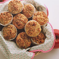 Cranberry Apple Walnut Muffins: Main Image