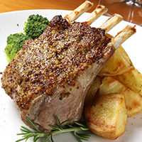 Crusty Almond Lamb Rack Chops: Main Image