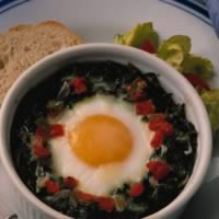 Baked Eggs and Spinach: Main Image