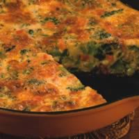 Broccoli-Cheddar Frittata: Main Image