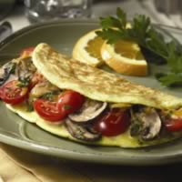 Cherry Tomato and Portobello Omelet: Main Image
