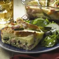 Ham and Asparagus Strata: Main Image