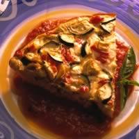 Hash Brown-Crusted Mediterranean Quiche: Main Image
