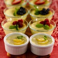 Springtime Baked Lemon Custard: Main Image