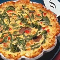 Turkey-Vegetable Hash Brown Quiche: Main Image