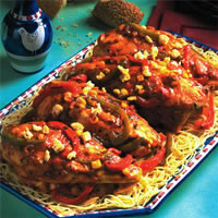 South-of-the-Border Chicken Cacciatore: Main Image