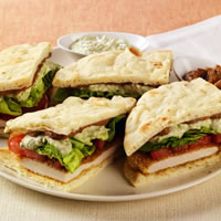 Chicken Naan-wiches with Date and Yogurt Sauces: Main Image