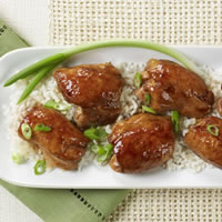 Ginger Scented Honey Hoisin Chicken Thighs with Sesame: Main Image
