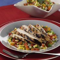 Grilled Chicken with Sweet Corn and Pepper Relish: Main Image