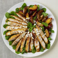 Panko Crusted Chicken Salad with Pomegranate Balsamic Dressing: Main Image