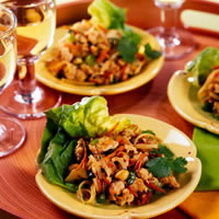 Vietnamese Ground Chicken Lettuce Wraps: Main Image