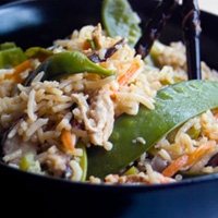 Fried Rice with Shiitake Mushrooms: Main Image