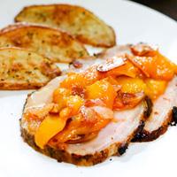 Pork Tenderloin with Peach Compote: Main Image