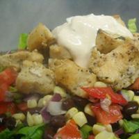 Santa Fe Salad with Sour Cream-Chipotle Dressing: Main Image