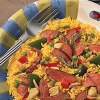 Grilled Lamb Salad Paella: Main Image