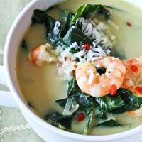 Shrimp and Coconut Soup with Collard Greens: Main Image