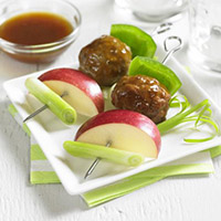 Spicy Apple Glazed Meatball Skewers: Main Image