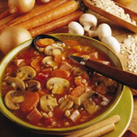 Curried Mushroom Barley Soup: Main Image