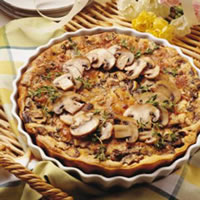 Fresh Mushroom Clafouti: Main Image