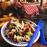 Fresh Mushroom Three Bean Salad: Main Image