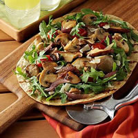 Grilled Mushroom Medley Pizzas: Main Image