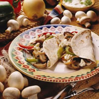 Grilled Mushrooms and Pepper Fajitas: Main Image