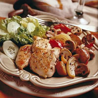Herb Roasted Mushrooms, Chicken, & Vegetables: Main Image