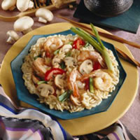 Hoisin-Flavored Mushrooms and Shrimp: Main Image