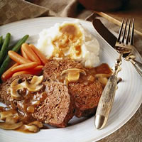 Meatloaf with Mushroom Sauce: Main Image