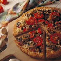 Mushroom Bacon Pizza: Main Image