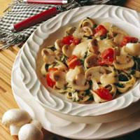 Mushroom Fettucine Florentine: Main Image