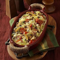 Mushroom Primavera with Spaghetti Squash: Main Image