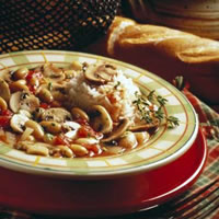 Quick Mushroom and White Bean Stew: Main Image