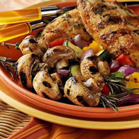 Rosemary Chicken and Mushrooms with Mixed Vegetables: Main Image