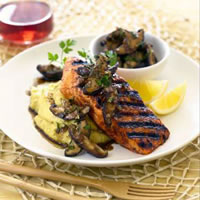 Salmon with Shiitake Relish: Main Image