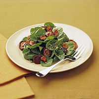 Spinach Salad with Candied Shiitake Mushrooms: Main Image