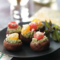 Stuffed Asiago-Basil Mushrooms: Main Image