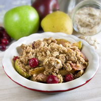 master.k.m.us.MM Apple Pear Cranberry Crisp Sundried Tomato and Herb Baked Eggs