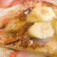 Coconut French Toast with Rum-Infused Caramelized Bananas: Main Image