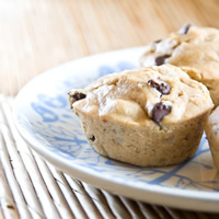 Peanut Butter Banana Chocolate Chip Muffins: Main Image