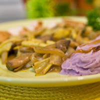 Purple Fingerling Mashed Potatoes: Main Image