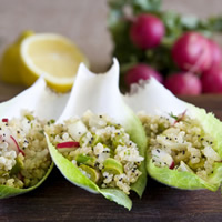 Quinoa Salad in Endive Cups: Main Image
