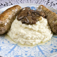 Healthier Bangers and Mash: Main Image
