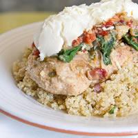 Healthier Chicken Florentine: Main Image