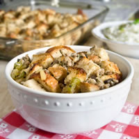 Sourdough Stuffing with Sage Sausage and Apples: Main Image