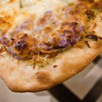 White Pizza with Purple Fingerling Mashed Potatoes: Main Image