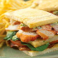 Maine Lobster Club Sandwich: Main Image