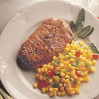 Beef Steaks with Tangy Corn Relish: Main Image