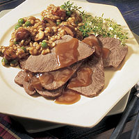 Braised Beef with Mushrooms & Barley: Main Image