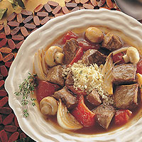 Savory Beef Stew with Roasted Vegetables: Main Image